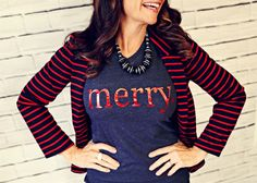 These tee's make the perfect holiday outfit! Dress them up or down and mix and match your entire family!