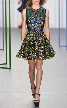 Kiki Embroidered Organza Circle Dress by HOLLY FULTON for Preorder on Moda Operandi