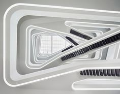 Hypnotic Office Building Interior in Moscow