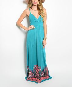 This Jade Paisley Surplice Maxi Dress is perfect! #zulilyfinds
