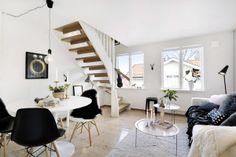 Are you a Gentleman? Un atico nordico en blanco y negro | Decorar tu casa es facilisimo.com