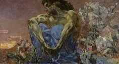 Lermontov's Demon as interpreted by Mikhail Vrubel, 1890