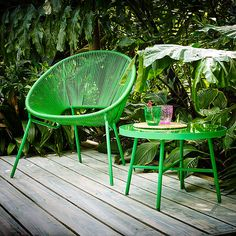BuyHouse by John Lewis Salsa Chair, Palm Green Online at johnlewis.com