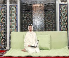 Princess Lalla Meryem of the Morocco presided over 09 Feb 2014 at the mosque Assouna in Rabat, the commemoration of the 15th anniversary of the death of King Hassan II.
