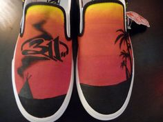 311 - Sunset painted shoes!