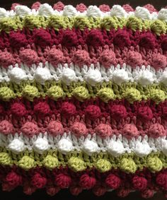 Ravelry: Project Gallery for Blackberry Salad Striped Baby Blanket pattern by Tamara Kelly
