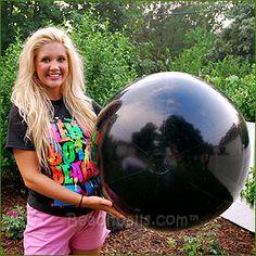 36'' Solid Black Beach Balls