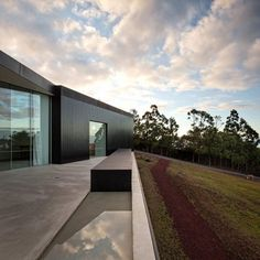 Home Design Wall Among Green Landscaping Decoration As Home Inspiration Dark Wall Color in Contemporary Home