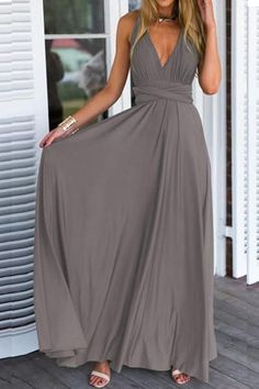 Glamorous Versatile Crossover Prom Dress