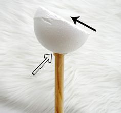 Attaching a large paper flower to a stem