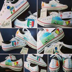 grafiche fiabe su scarpe converse
