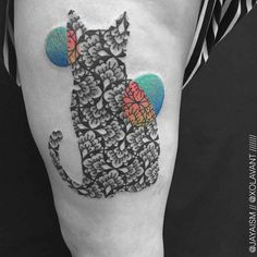 Best Geometric Tattoo - Minimal Geometric Tattoos Brought to Life with Bursts of Colour