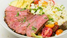 steak salad with cilantro lime vinaigrette