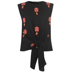Take a look at our wide range of women's shirts and blouses, including this Biba Tassle Blouse - order yours today! Black Blouse, Types Of Sleeves, Blouse Designs, Blouses For Women, Long Sleeve Shirts, Chiffon, 30 Degrees, How To Wear, Construction