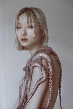 """Moon and the Octopus"" — Photographer: Marta Bevacqua Model: Moon Kyu Lee #alabaster"