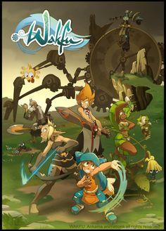 Wakfu. Illustration to promote the serie wakfu