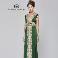 Green and gold caftan... Royal colours of joy and happiness... perfect for your…