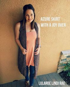 """22 Likes, 1 Comments - LulaRoe with Lindi Rae (@lularoewithlindirae) on Instagram: """"Try It Tuesday with LuLaRoe Lindi Rae!  Try an azure skirt as a top with a sheer lightweight Joy…"""""""