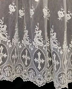 Vintage White Lace Surplice Crosses IHS Priest Vestments Cotta ...