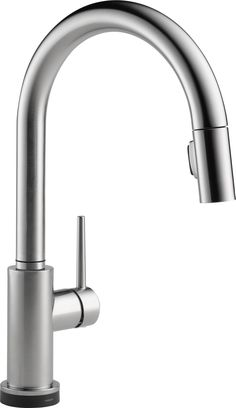 Delta 9159T-AR-DST Trinsic Single Handle Pull-Down Kitchen Faucet Featuring Touch2O and Diamond Seal Technology in Arctic Stainless $401.70