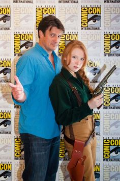 Nathan Fillion and Molly Quinn! Hell yes.