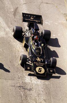 Emerson Fittipaldi (BRA) (John Player Team Lotus), Lotus 72D - Ford V8 (finished 1st)  1972 Spanish Grand Prix, Circuito del Jarama