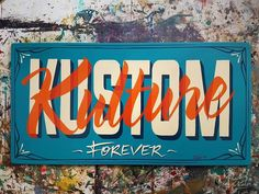Traditional Hand Painted 👊🖌 ~KKF~ http://www.kustom-kulture-forever.com/ classic colors: 1shot etc. painted by switschi Switschis Sign Atelier Leipzig ~2018~ GER #vintagetype #alwayshandpaint...