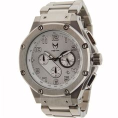 Meister Ambassador Stainless Steel Watch in stainless silver. $399.99