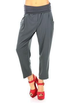 MANILA GRACE - Pantaloni - Abbigliamento - Pantaloni in tessuto elasticizzato con fascia elastica in vita. Tasche laterali ed a filetto sul retro. - MD223 - € 149.00