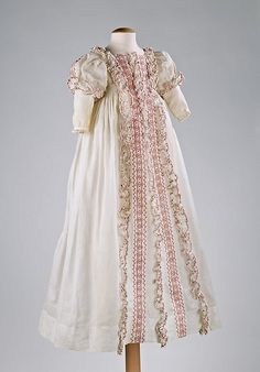 unusual, American made antique christening robe ... c. 1830