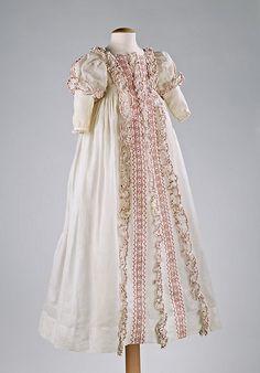 unusual, American made antique christening robe ... c. 1830