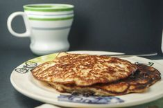 Peanut Butter Banana Protein Pancakes - Slender Kitchen. Works for Clean Eating, Gluten Free, Paleo, Vegetarian and Weight Watchers® diets. 170 Calories.