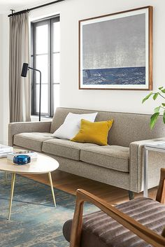 Create a beautiful living room with modern furniture and home accessories designed to be practical, timeless and comfortable.