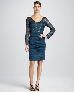 Kay Unger New York Combo Cocktail Dress