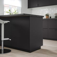IKEA - KUNGSBACKA, Cover panel, anthracite, Choose a cover panel in the same finish as your door for a uniform expression, or mix and match to suit your taste. Read about the terms in the Limited Warranty brochure. Ikea Kitchen Doors, Kitchen Cabinets, Plastic Foil, Ikea Family, Black Cabinets, Pet Bottle, Black Kitchens, Kitchen Black, Home