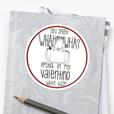 WHAHHAHAWAHHA lipstick in my valentino white bag  (vine) by mageemimi Vines 113d5b3334517