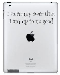 Harry Potter Inspired I solemnly swear that I am up to no good iPad Vinyl