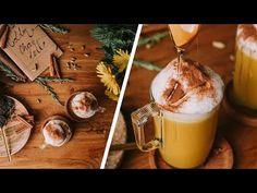 "Golden Chai Tea Latte Recipe: 1 teacup water 2 teacups vanilla soy milk ""Alpro"" cinnamon turmeric black tea ""AHMAD"" a pinch of black pepper. Chai Latte, Coffee Cups, Tea Cups, Latte Recipe, Soy Milk, Turmeric, Glass Of Milk, Make It Yourself, Chevron"