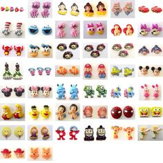 Resin Flatback CHARACTER CABOCHONS Embellishments (You Chose Style) Disney Pixar