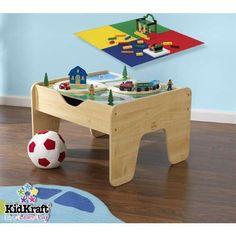 #transformer 230pc 2 sided play activity table 200 toy blocks 30 pc train set wood w storage