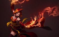 Lina Dota 2 Girl Fire High Resolution Wallpaper 1920×1200
