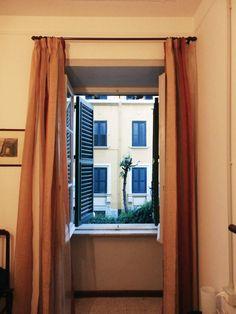 My bedroom window at B&B in Rome