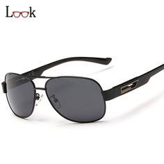 1cd81c29161 HD High-end Classic Polarized Sunglasses Men Fashion Brand UV400 Goggles  Driving Square Sunglasses For