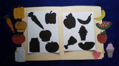 Food Shadows Matching File Folder Game