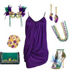 """Mardi Gras Party"" by irishqt1969 on Polyvore"