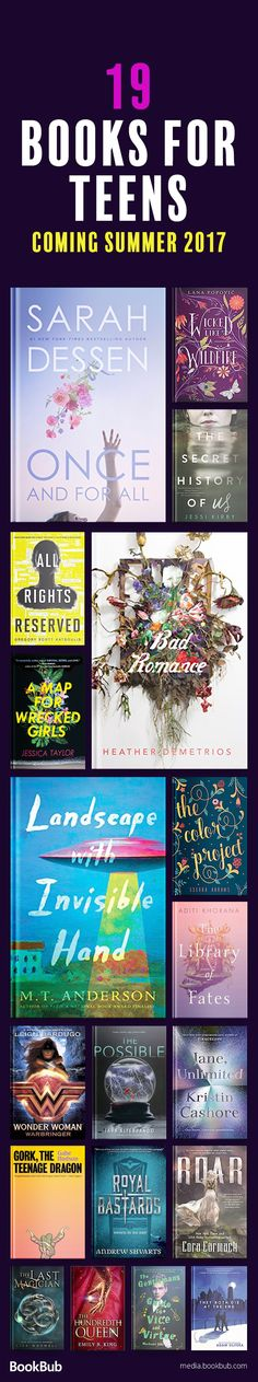19 books for teens to read! These novels are great for teen girls, teen boys, and adults, too! Featuring a fantasy books, romance books, and more.