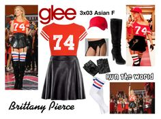 Brittany Pierce (Glee) : Run The World by aure26 on Polyvore featuring River Island, Jane Norman, H&M, Hanky Panky, Cole Haan, State of Wow and glee