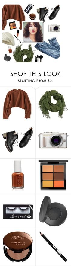 """Raraldu"" by janemorguedoe ❤ liked on Polyvore featuring Uniqlo, J.Crew, PL8, Essie, MAC Cosmetics, Youngblood, MAKE UP FOR EVER, Manic Panic NYC and Glamour Status"