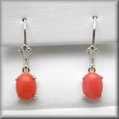 Salmon Pink Coral Earrings  Salmon Coral by NaturalGemsJewelry  adorable on etsy!