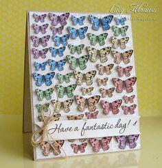 Rainbow butterflies—Hero Arts' Papillons digikit